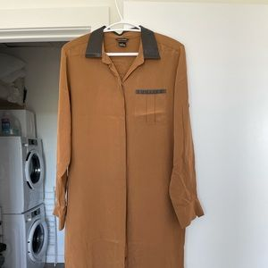 Club Monaco Silk Shirt Dress
